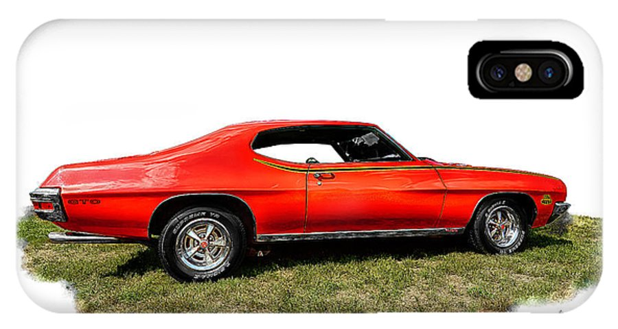 American IPhone X Case featuring the photograph 1970 Fake Gto_lemans by Michael Rankin