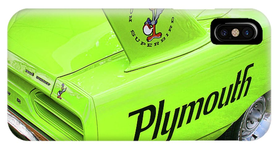 1970 IPhone X Case featuring the photograph 1970 Plymouth Superbird by Gordon Dean II