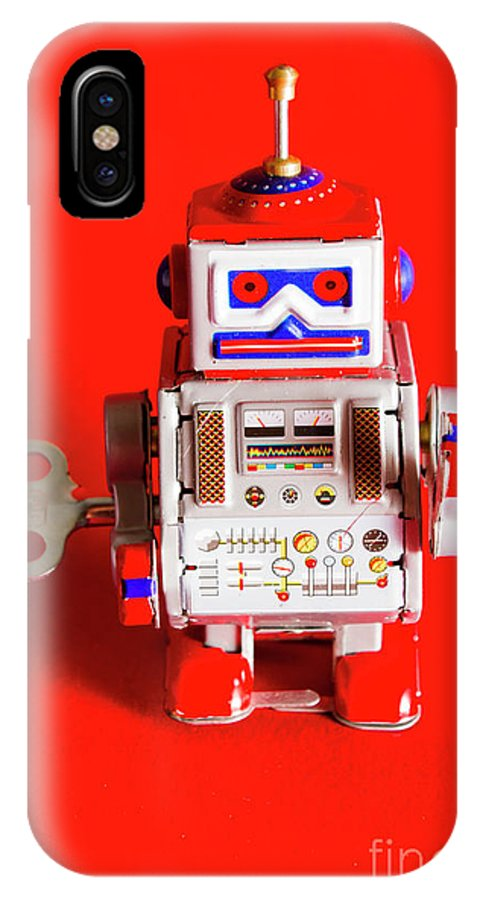 1980s IPhone X Case featuring the photograph 1970s Wind Up Dancing Robot by Jorgo Photography - Wall Art Gallery