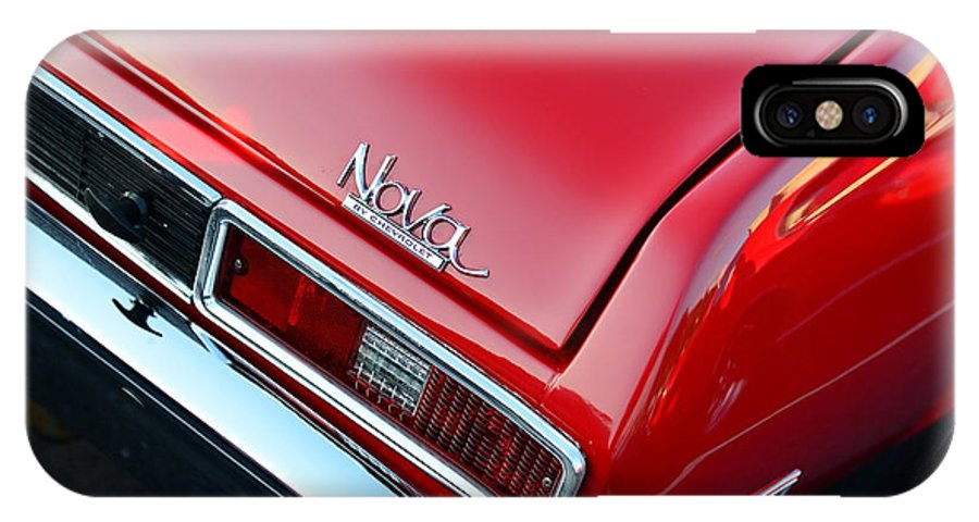 1971 Chevy Nova - Red IPhone X Case featuring the photograph 1971 Chevy Nova - Red by Paul Ward