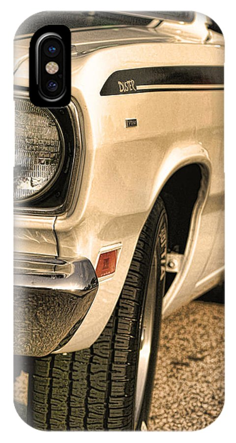 1970 IPhone X Case featuring the photograph 1971 Plymouth Duster 340 Four Barrel by Gordon Dean II