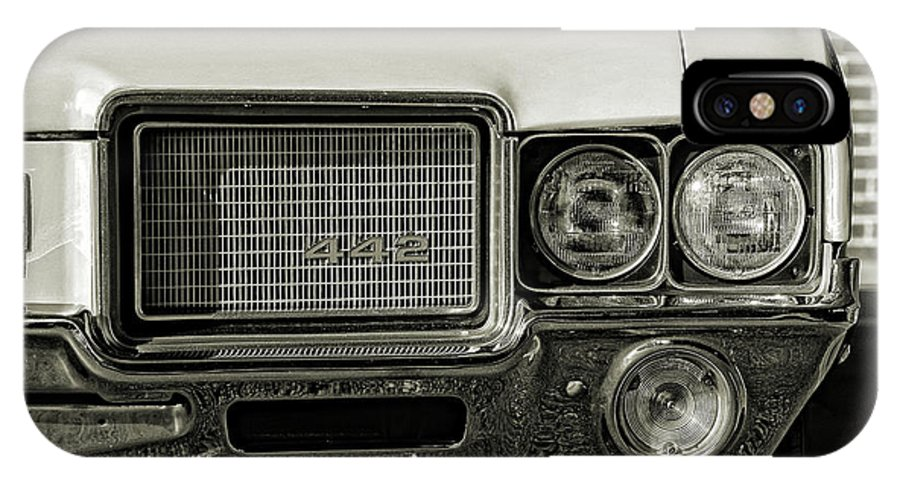1972 IPhone X Case featuring the photograph 1972 Olds 442 by Gordon Dean II