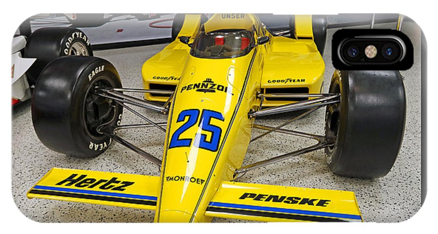 Indianapolis IPhone X Case featuring the photograph 1987 Indianapolis 500 Winner Al Unser by Steve Gass