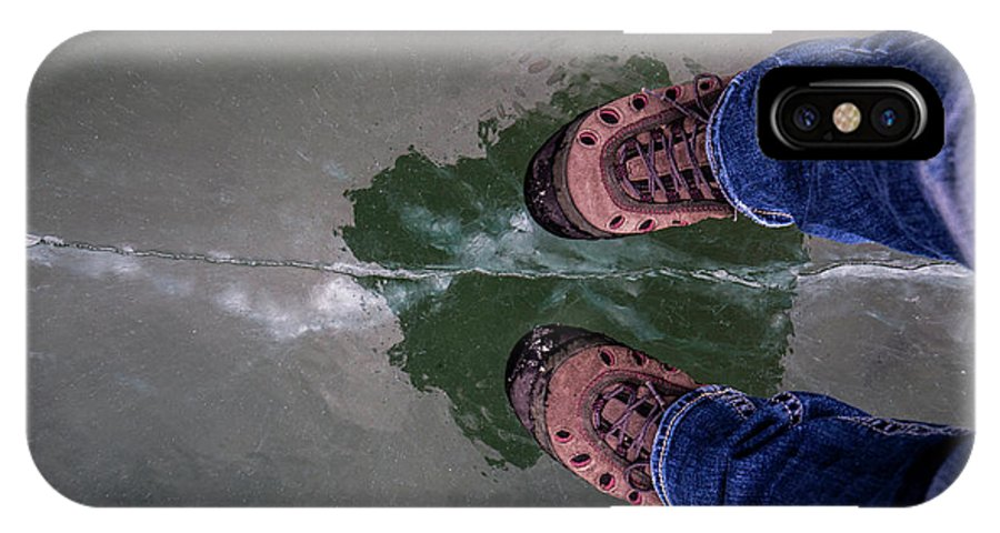 Rockies IPhone X Case featuring the photograph Standing On Thin Ice 2 by J and j Imagery