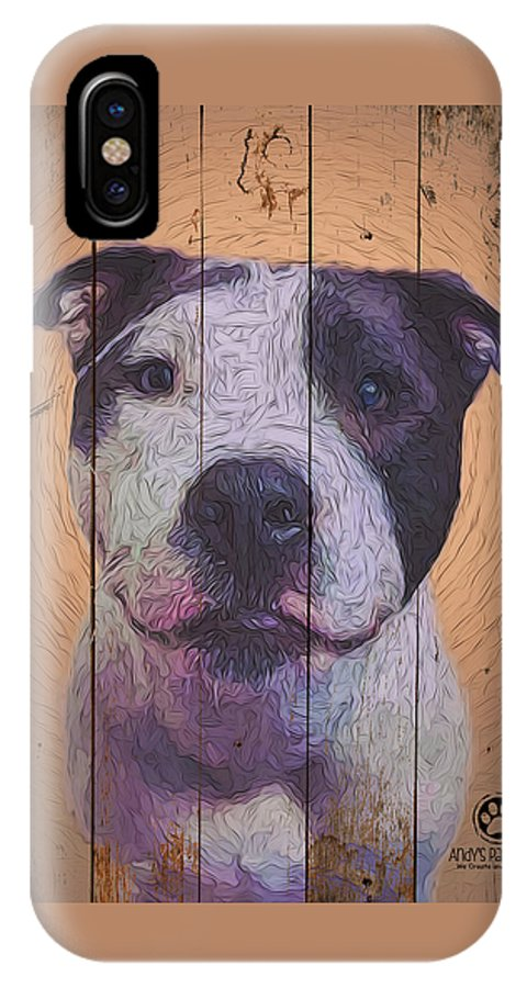 8337805 IPhone X Case featuring the digital art 8337805 by Andy Accessories