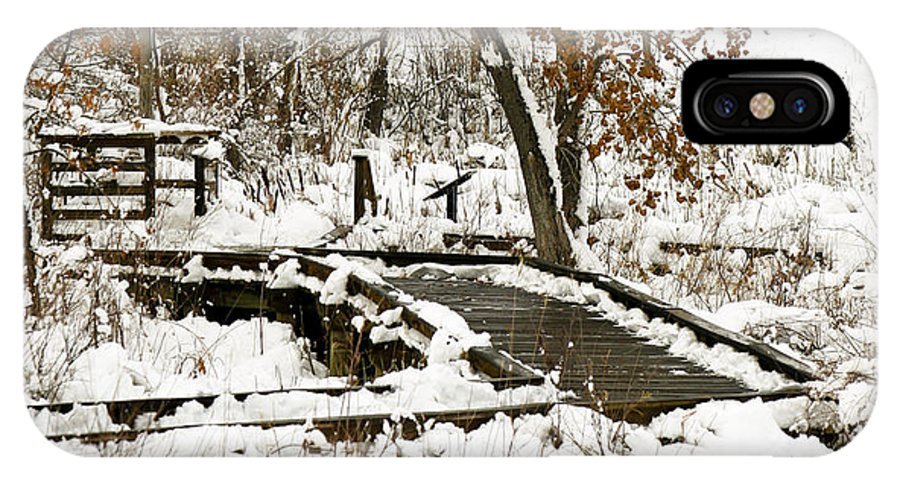 Boardwalk IPhone X Case featuring the photograph A Winter's Day by Marilyn Hunt