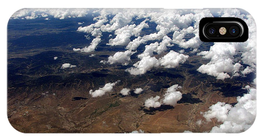 Clouds IPhone X Case featuring the photograph Across The Miles by Joanne Coyle
