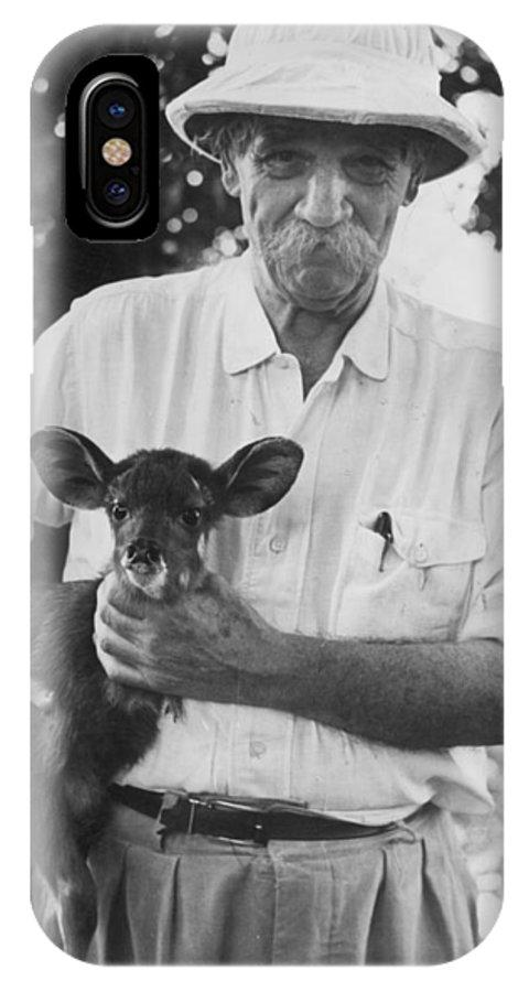 20th Century IPhone X Case featuring the photograph Albert Schweitzer by Granger