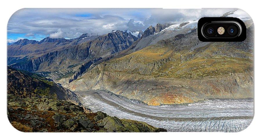 Aletsch Glacier IPhone X Case featuring the photograph Aletsch Glacier, Switzerland by Ivan Batinic