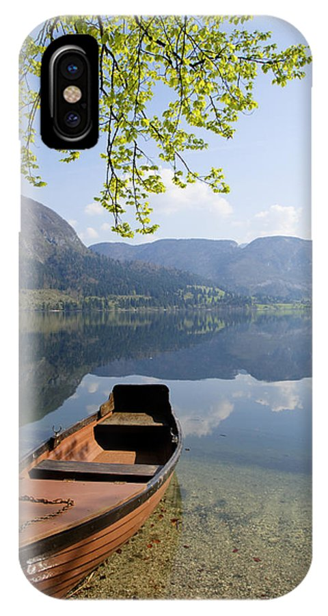 Reflections IPhone X Case featuring the photograph Alpine Moods by Ian Middleton