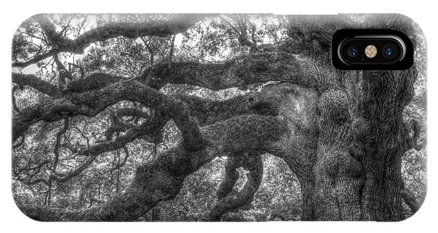 Angel Oak IPhone X Case featuring the photograph Angel Oak Tree Charleston Sc by Dustin K Ryan