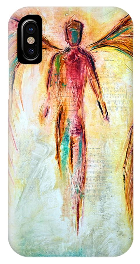 Angel IPhone X Case featuring the mixed media Angel of Music by Ivan Guaderrama