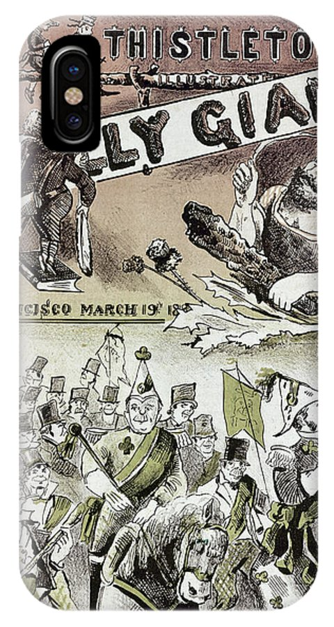 1880 IPhone X Case featuring the photograph Anti-immigrant Cartoon by Granger
