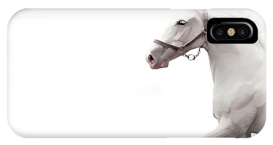 Arabian Horse IPhone X Case featuring the digital art Arabian Horse by Fadel Ayoub
