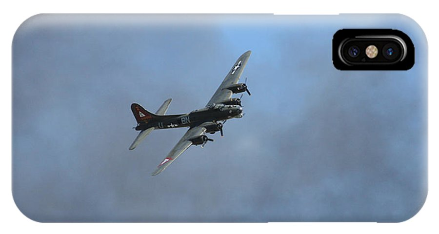B-17 IPhone X Case featuring the photograph B-17 by Mark Grayden