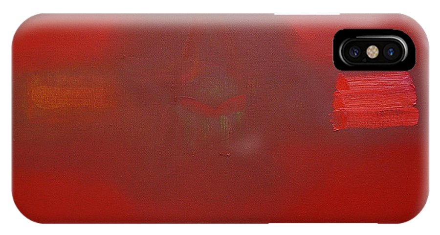 Decal IPhone X Case featuring the painting Balance Of Power by Charles Stuart