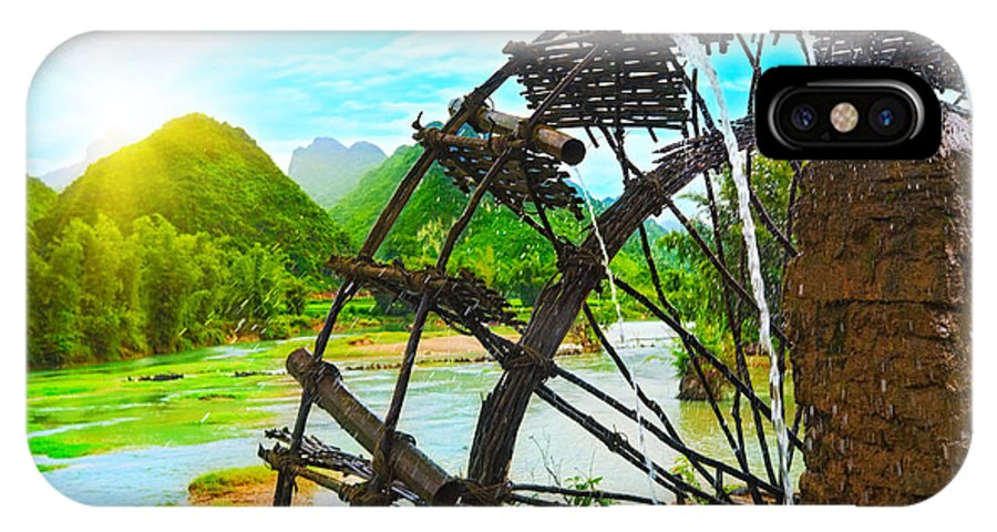 Bamboo IPhone X Case featuring the photograph Bamboo Water Wheel by MotHaiBaPhoto Prints