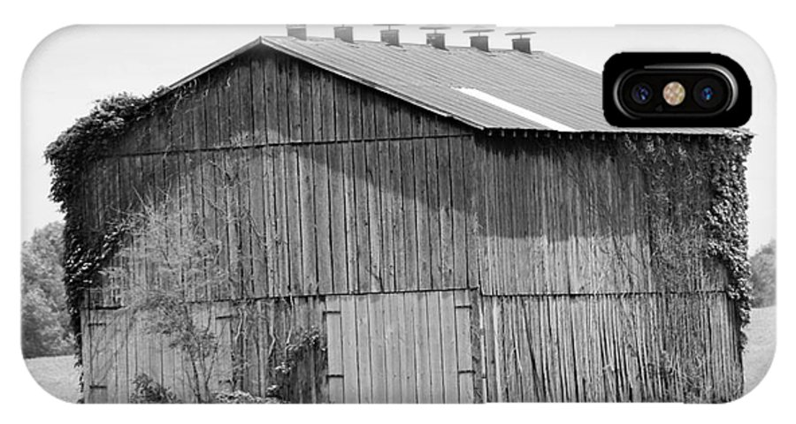 Monochrome IPhone X Case featuring the photograph Barn In Kentucky No 71 by Dwight Cook