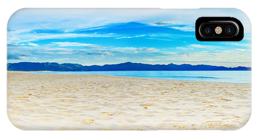 Sea IPhone X Case featuring the photograph Beach Panorama by MotHaiBaPhoto Prints