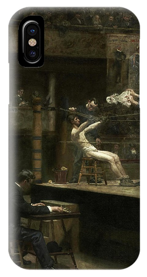 America IPhone X Case featuring the painting Between Rounds by Thomas Eakins