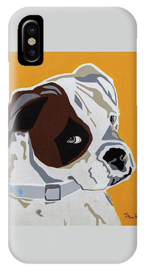 Boxer IPhone X Case featuring the painting Boxer 2 by Slade Roberts