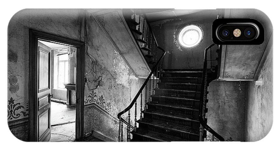 Castle IPhone X Case featuring the photograph Castle Stairs - Abandoned Building by Dirk Ercken
