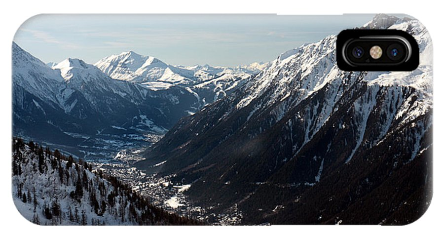 Chamonix IPhone X Case featuring the photograph Chamonix Resort In The French Alps by Pierre Leclerc Photography
