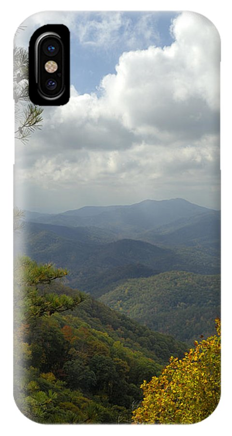 Scenic IPhone X Case featuring the photograph Cherohala Skyway In Autumn Color by Darrell Young