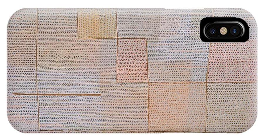 Paul Klee Clarification IPhone X Case featuring the painting Clarification by Paul Klee