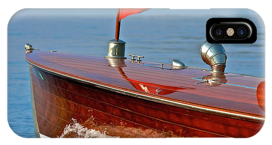 Runabout IPhone X Case featuring the photograph Classic Woodie by Steven Lapkin