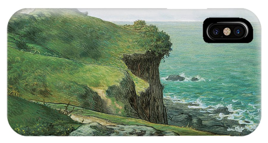 Barbizon School IPhone X Case featuring the painting Cliffs Of Greville by Jean-Francois Millet