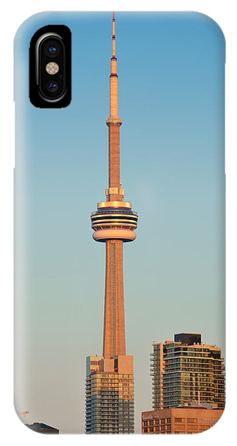 Toronto IPhone X Case featuring the photograph Cn Tower Toronto by Songquan Deng