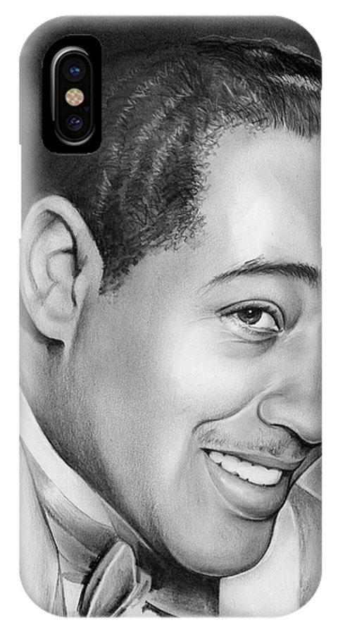 Jazz IPhone X Case featuring the drawing Duke Ellington by Greg Joens