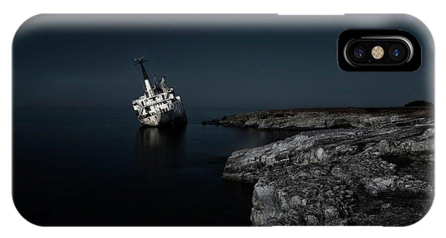 Edro Iii IPhone X Case featuring the photograph Edro IIi Shipwreck - Cyprus by Joana Kruse