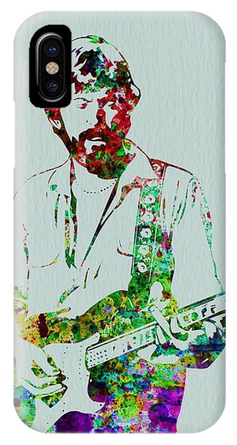 Eric Clapton IPhone X Case featuring the painting Eric Clapton 2 by Naxart Studio