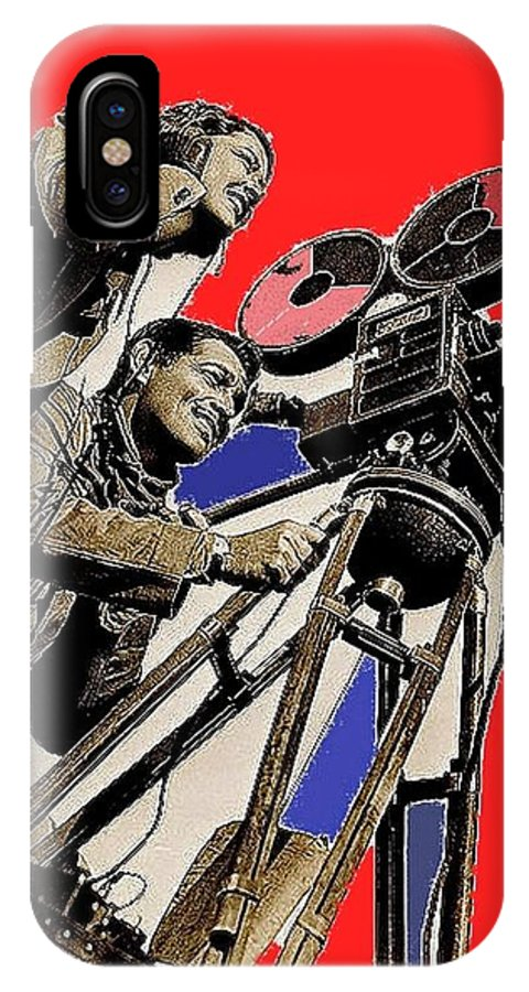 Film Homage Clark Gable Myrna Loy Too Hot To Handle 1938 Toning Color Added 2008 IPhone X Case featuring the photograph Film Homage Clark Gable Myrna Loy Too Hot To Handle 1938 Toning Color Added 2008 by David Lee Guss
