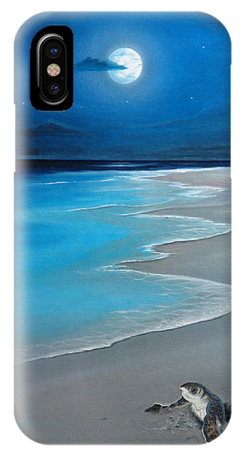 Seascape Art IPhone Case featuring the painting First Born by Angel Ortiz