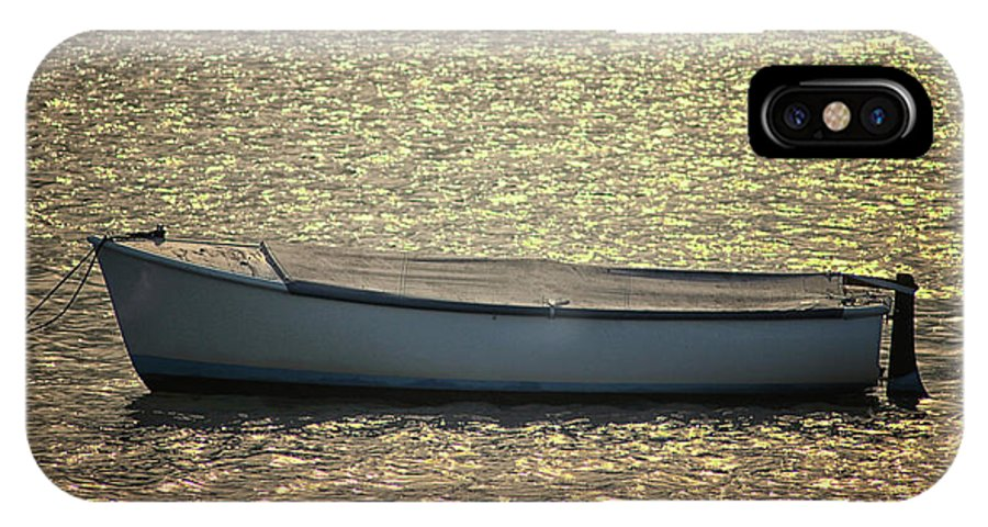 Fishing IPhone X Case featuring the photograph Fishing Boat by Martin Newman