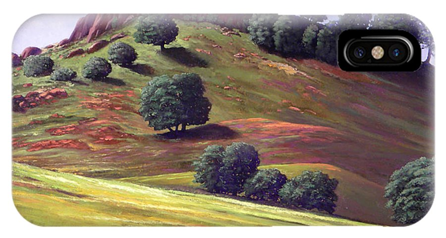 Landscape IPhone Case featuring the painting Flowering Meadow by Frank Wilson