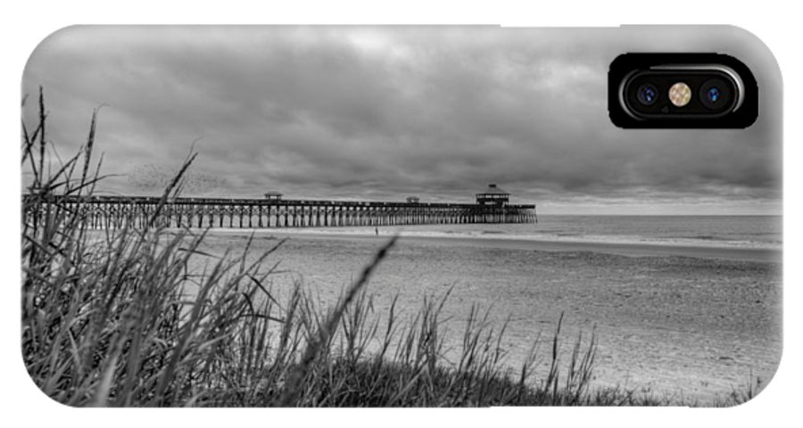 Folly Beach IPhone X Case featuring the photograph Folly Beach Pier by Dustin K Ryan