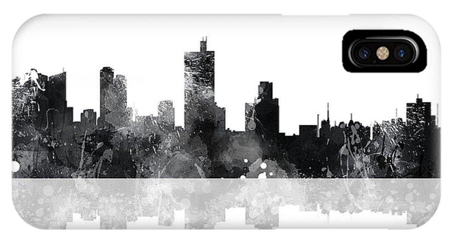 Fort Worth Texas Skyline IPhone X Case featuring the digital art Fort Worth Texas Skyline by Marlene Watson