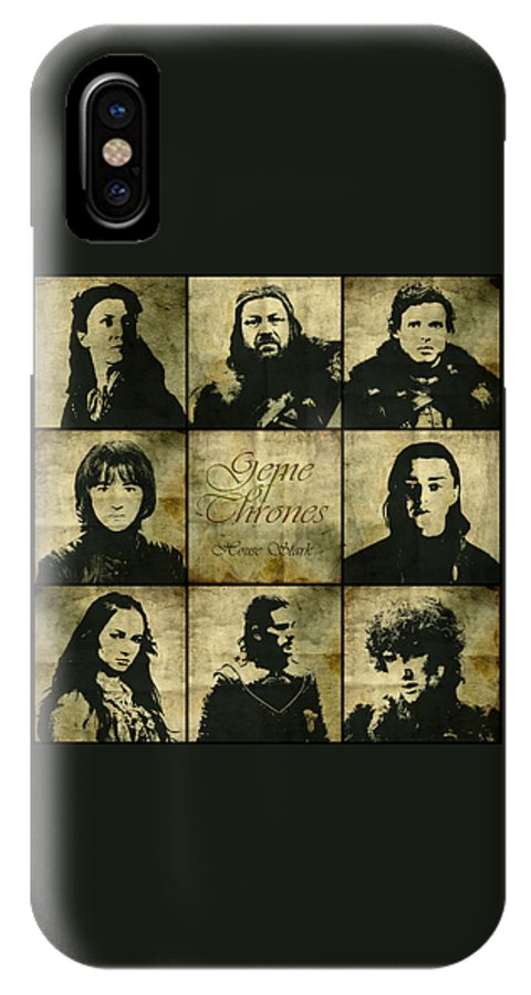 Game Of Thrones IPhone X Case featuring the digital art Game Of Thrones. House Stark. by Nadezhda Zhuravleva