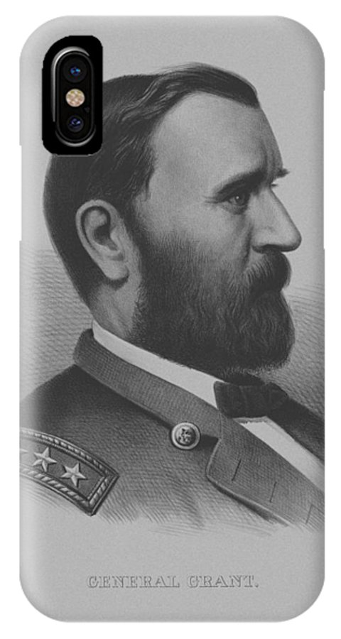 General Grant IPhone X / XS Case featuring the mixed media General Grant by War Is Hell Store