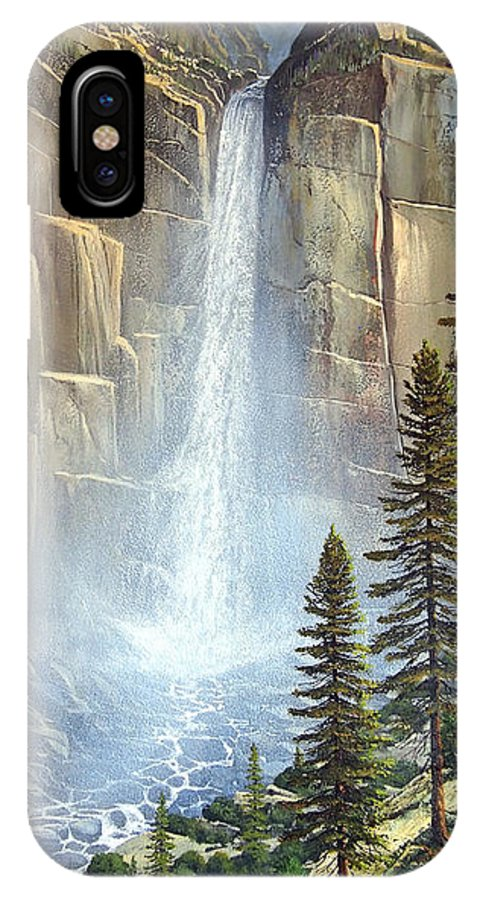 Great Falls IPhone Case featuring the painting Great Falls by Frank Wilson