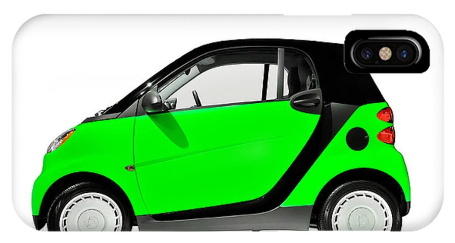 Smart IPhone X Case featuring the photograph Green Mini Car by Oleksiy Maksymenko