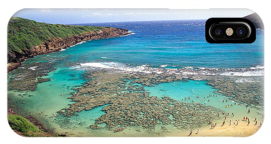 Above IPhone X Case featuring the photograph Hanauma Bay by Peter French - Printscapes
