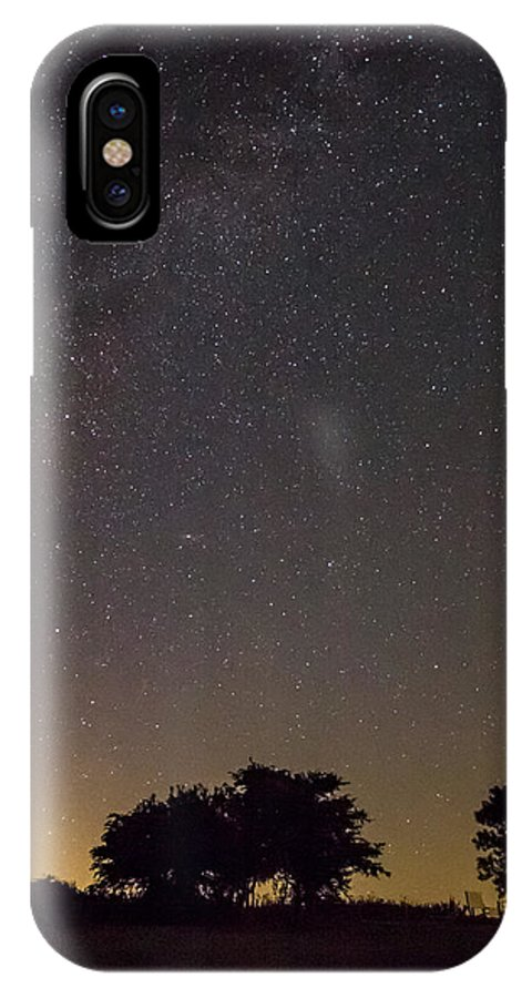 Milky Way IPhone X / XS Case featuring the photograph Home by Angela Aird