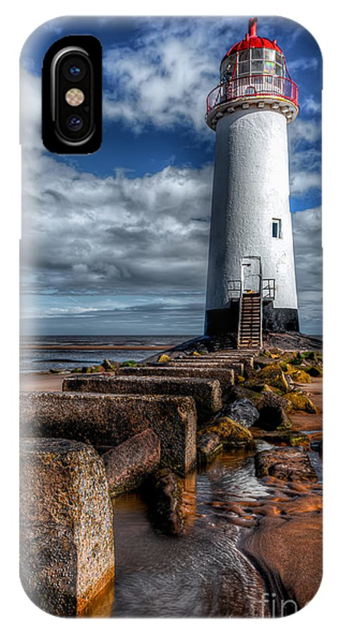 Beach IPhone X Case featuring the photograph House Of Light by Adrian Evans