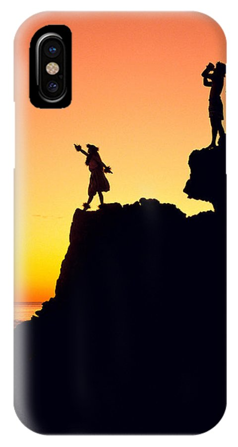 Aloha IPhone X Case featuring the photograph Hula Silhouette by William Waterfall - Printscapes