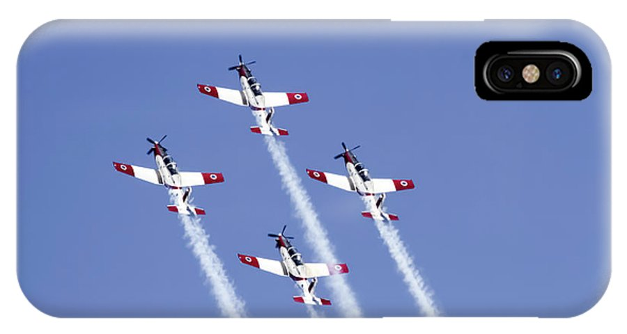 Aerobatics IPhone X Case featuring the photograph Iaf Acrobatic Team by Vladi Alon